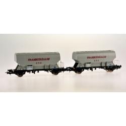 Set de 2 wagons SNCF - Transcéréales CTC sans adresse