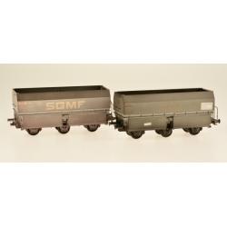 """MH45 3 essieux Ep.IV SET de 2 Wagons """"STEMI - SGMF"""""""