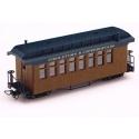 Fiddeltown & Copperopolis voiture de voyageurs, brun avec inscriptions