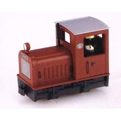 """Locotracteur diesel """"Gmeinder"""" diesel rouge"""