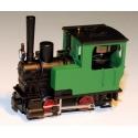 Locomotive à vapeur Krauss, sans numéro verte