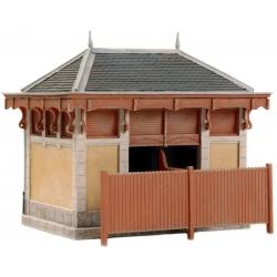 Kit à monter : bâtiments de toilettes pour gare Française 1/87