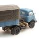 Camion DAF remorque 1 essieux bâchée, cab '59, bleu 1/87
