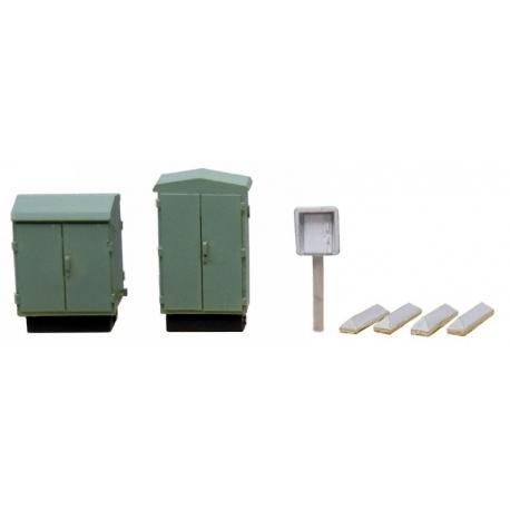 Set de boitiers électriques/relais téléphoniques 1/87