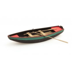 Barque verte à rames 1/87