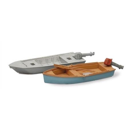 Barques de pêcheurs moderne (2 pièces) 1/87