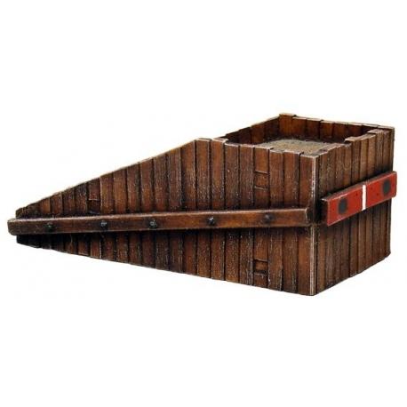 Heurtoir ancien en bois 1/87