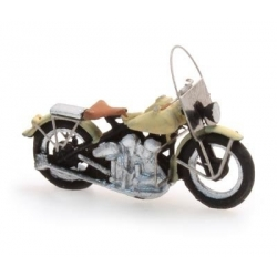 """Moto américaine """"Libérator"""" ivoire 1/87"""