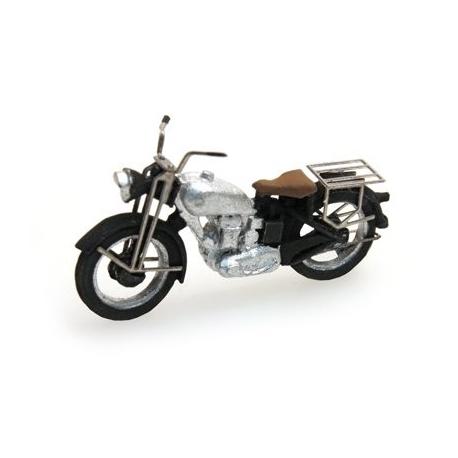 """Moto américaine """"Triumph"""" gris argent 1/87"""