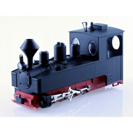 1026 - Locomotive de Brigade 0-8-0 T noire, châssis rouge
