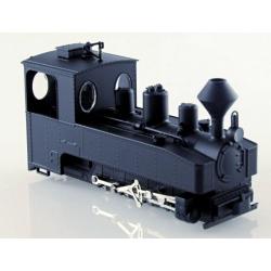 Locomotive de Brigade 0-8-0 T noire, châssis noir