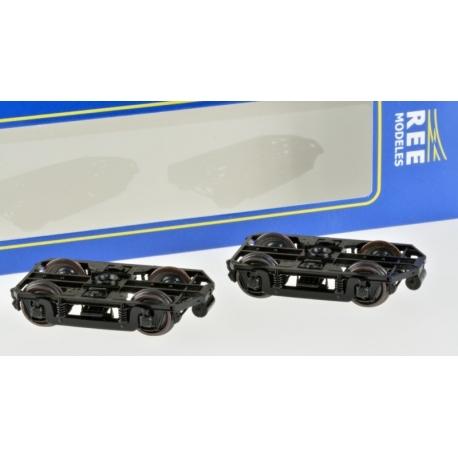 Set de 2 Bogies Y16 E - 4 boites SKF - Dynamo - Noir