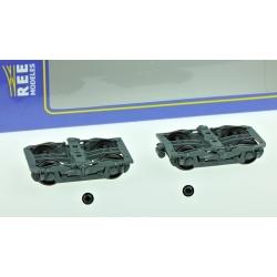 Set de 2 Bogies Y24 - 4 boites SKF - Gris ardoise + 1 dynamo Type 2