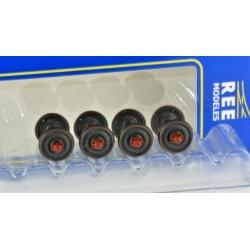 Set de 4 Essieux Roues Pleines D 920 boites à rouleaux SKF