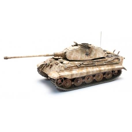 Char de l'armée allemande Tigre II Porsche Zimmerit, Jaune sable Hiver