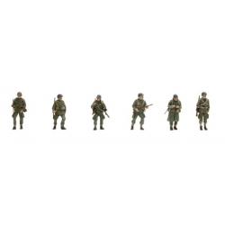 Set de 6 personnages US Infanterie Parachutistes