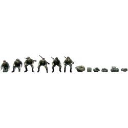 Set de 6 motards de l'armée allemande avec mitraillettes, automne
