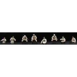 Set de 7 personnages Iinfanterie Allemande Panzergrenadier (char) hiver