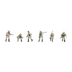 Set de 6 personnages Iinfanterie Allemande Panzergrenadier Hiver