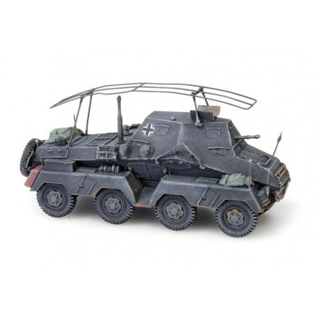 Moto de l'armée allemande BMWR75 + Side Car, gris