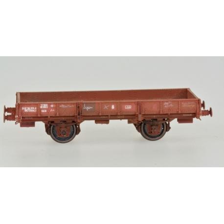 Wagon PLAT OCEM 19 Brun UIC Ep.IV patiné par Etienne SAUTIER