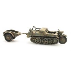Moto semi chenillé SdKfz 2, Kettenkrad Camouflage