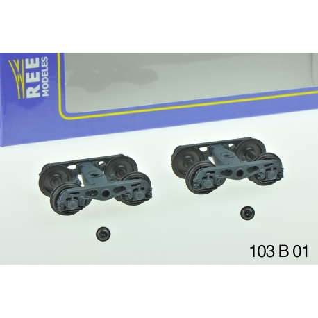 Set de 2 Bogies Y23 M - 4 Boites SKF - Gris moyen