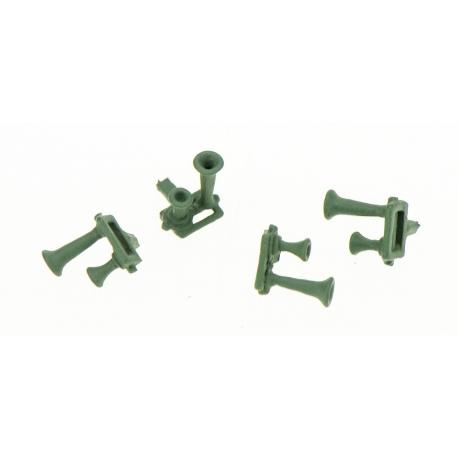 Avertisseur 2 Trompes Bi-Ton (x4 pièces métal de fonderie)