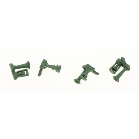 Avertisseur 2 Trompes Bi-Ton avec tôle de protection (x4 pièces métal de fonderie)