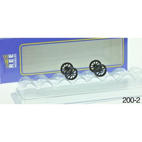 Set de 2 Essieux OCEM Roues Rayons D 1050 - Axe 24,3 mm