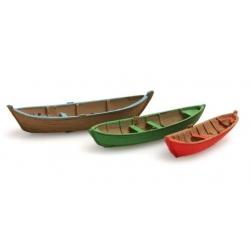 Set de 3 Barques à rames 1/87