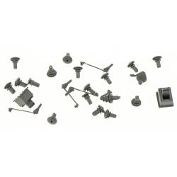 Accessoires Toiture CC7100 (Prafoudre et Isolateurs) - 24 pièces