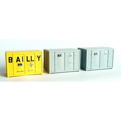 SET de 3 containers CADRE 72 (1 BAILLY et 2 gris)