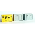 SET de 3 containers 72 (1 BAILLY et 2 gris)