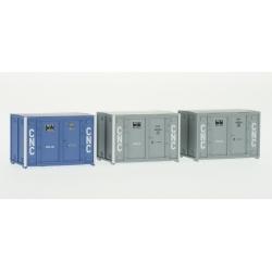 SET de 3 containers 72 (1 bleu et 2 gris CNC)