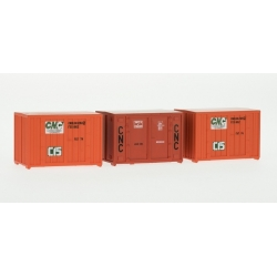 SET de 3 containers 72 (3 oranges CNC)