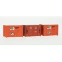 SET de 3 containers 72 (3 oranges CNC)
