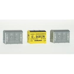 SET de 3 containers (1 Aérosudest BRUN et 2 OCEM a2b CNC)