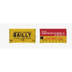 SET de 2 containers Harasse en bois (AUX PROFESSIONNELS, BAILLY)