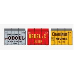 SET de 3 containers Aérosudest (BEDEL, CHAUTARD, ODOUL)