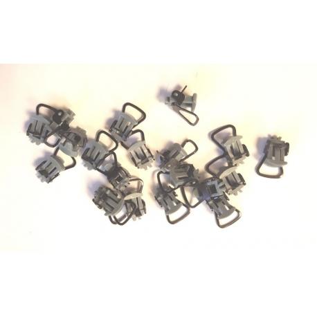 XB97120 - Attelages courts à boucle NEM 363 (Queue d'Aronde) x 20 pièces - gris