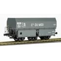 """Wagon MH45 Roue Léonard, 3 essieux """" Cie du MIDI"""" Gris châssis noir"""
