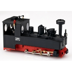 Locomotive de Brigade 0-8-0 T noire, châssis rouge