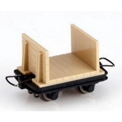 Set de 4 wagonnets pour transport de bois
