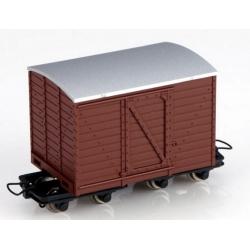 Wagon couvert à bogies marron