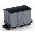 Wagon couvert à bogies gris