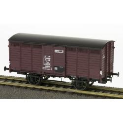Wagon couvert - Réseau PLM - Roues à rayons - châssis PLM