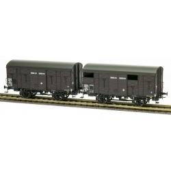 SET de 2 COUVERTS 20T ex-PLM SNCF Ep.III A Roues à rayons, frein à levier