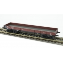 Wagon plat TP - DR 659862, 4 roues pleines Ep.III