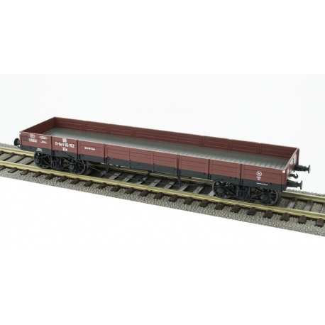 Wagon plat TP - DR 95152, 4 roues à rayons Ep.III